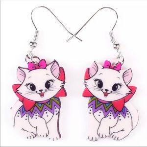 Brand New Aristocats Marie Custom Earrings